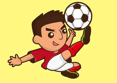 cartoon voetballer