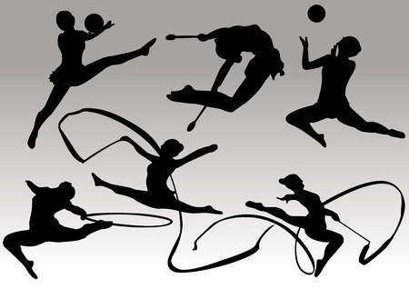young gymnastics: gymnastics silhouettes