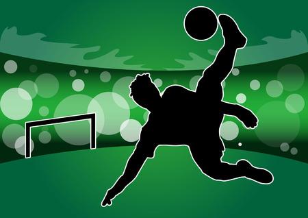 Voetballers silhouet en sport schaduw icoon