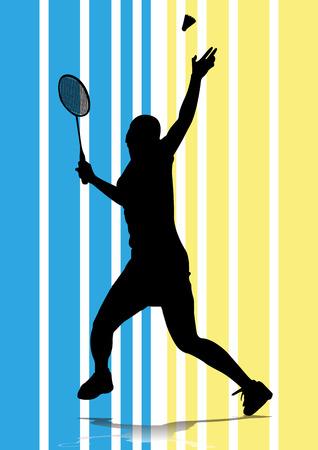 badminton speler silhouet