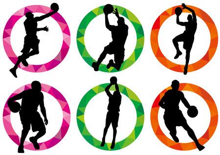 basketballers silhouetten