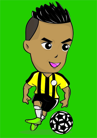 playoff: SPORT CARTOON SOCCER PLAYER Illustration