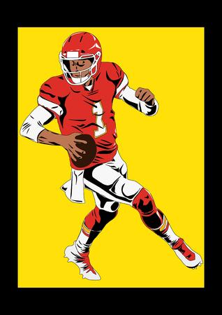 Football Sports Player Silhouett Illustration