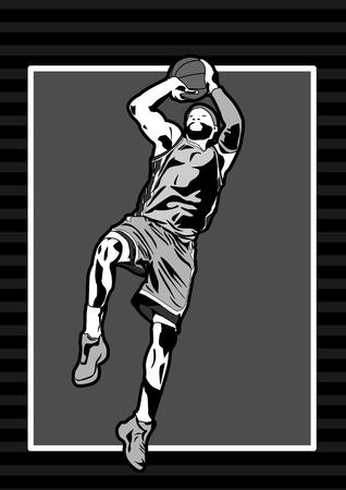 Sport basketbal speler schaduw silhouet