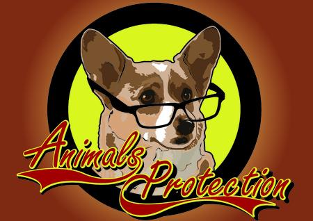 Animals Protection poster dog Stock Illustratie