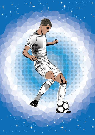 soccer player silhouette Illustration