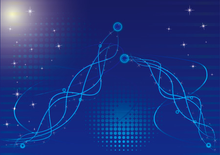 Modern abstract design on blue background