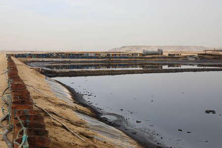 oil dump evaporation lake, oil Landfill