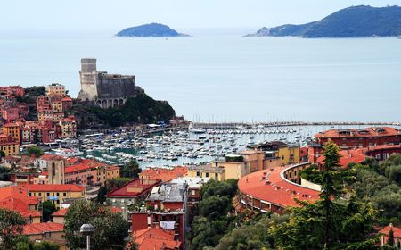 spezia: lerici a beautiful place in italy Stock Photo