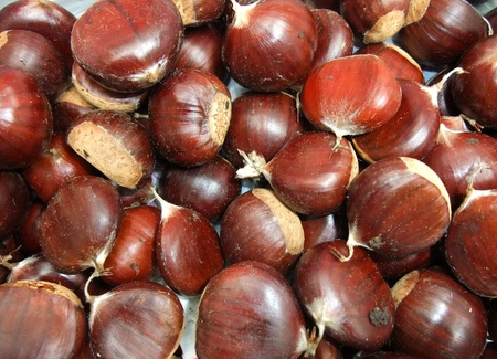 A plate of italian chestnut
