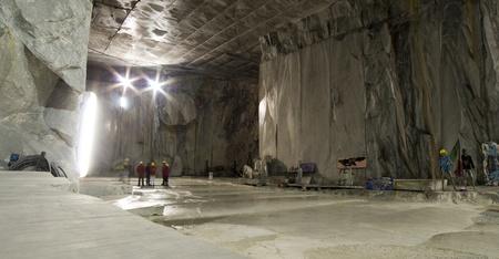 marble quarry in marina di carrara italy Editorial