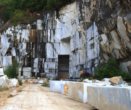 marble quarry in marina di carrara italy Editorial