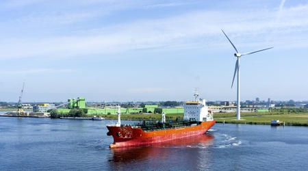 chemical tanker in the harbour of amsterdam photo