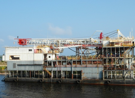 drilling platform ia a shipyard  photo
