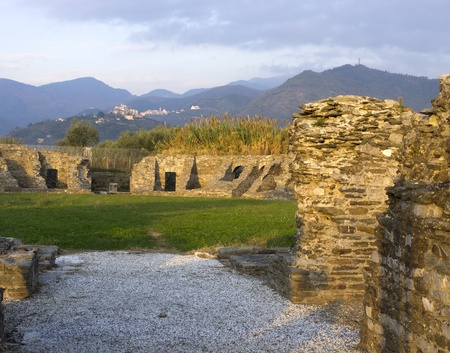 Luni (Sp), Italy, the archaeological area of the Roman town of Luna, the first and second century A.D.,the amphitheater for circus and gladiatorial combat