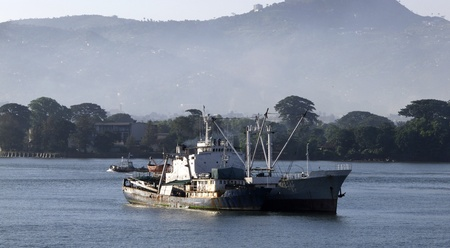 freetown the harbour of sierra leone Stock Photo - 11389239