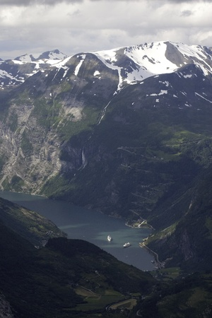 The nature of summer Norway. Mountains and fjords. photo
