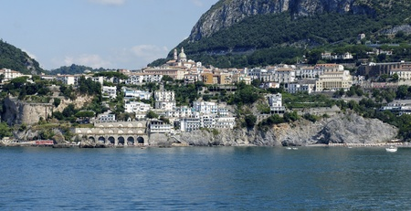 this is the coast in front of salerno , campania italy Stock Photo