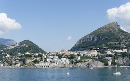 this is the coast in front of salerno , campania italy photo
