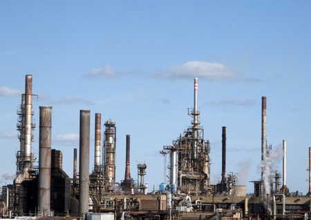 exhaust gases: chemical plant in north europe