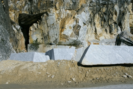 marble quarry in carrara tuscany photo