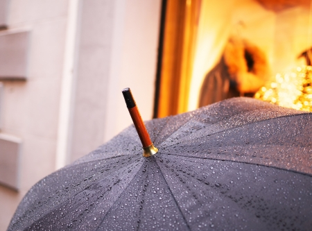 umbrella with a drop of water on it