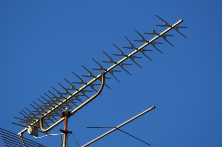 tv antenna on a roof photo