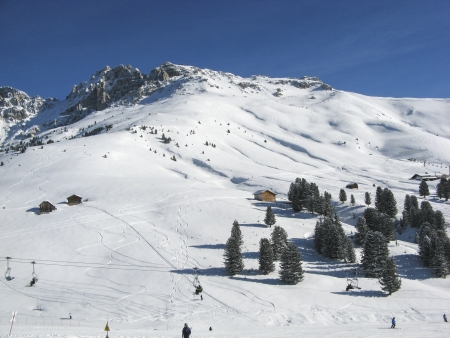view of dolomiti from sky slope