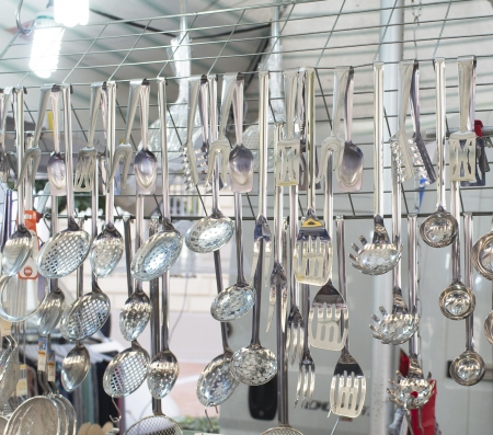 hang spoon at market