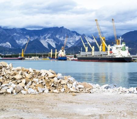 harbour in marina di carrara italy Stock Photo