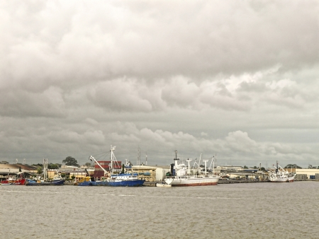 this is the harbour of abidjan west africa