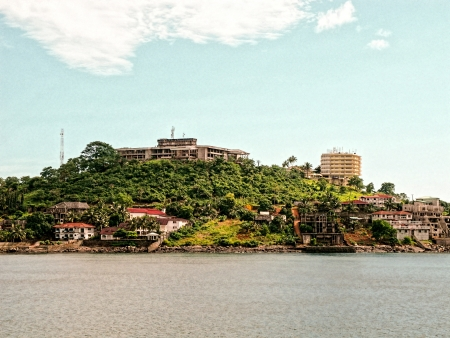sierra: this is the harbour of freetown in sierra leone
