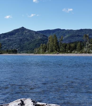 river magra in la spezia, italy