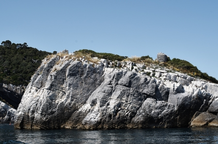 island of tino in the gulf of la spezia photo