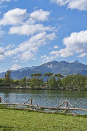 massa: fishing lake in massa , italy Stock Photo