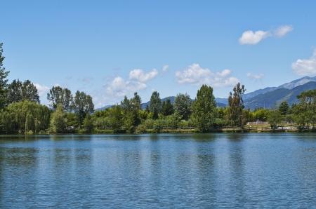 massa: fishing lake in massa italy