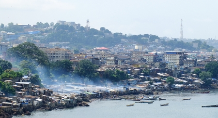 black history: photo of freetown in sierra leone