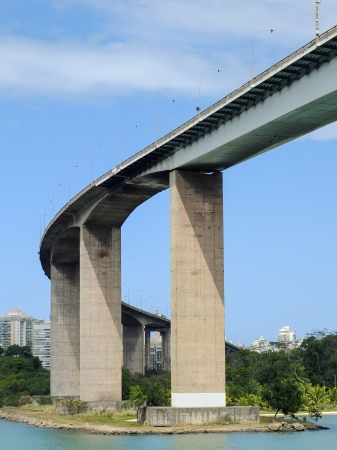 vitoria: vitoria bridge in brasil south america in summer time Stock Photo