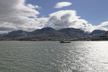 artic circle: spitsbergen island during one of my voyage Stock Photo