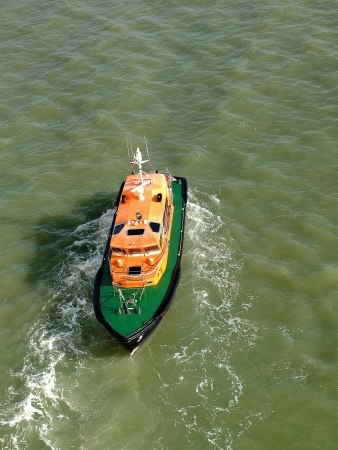 pilot boat in the river thames in england