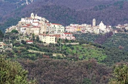 ortonovo a little village near la spezia Stock Photo