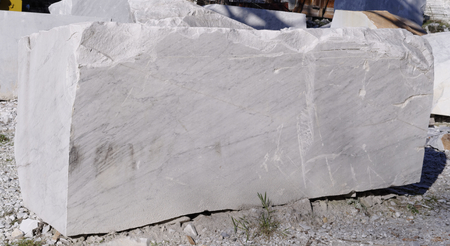 marble quarry in tuscany , italy