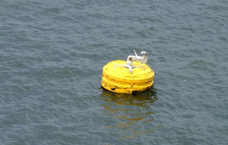 buoy: yellow buoy Stock Photo