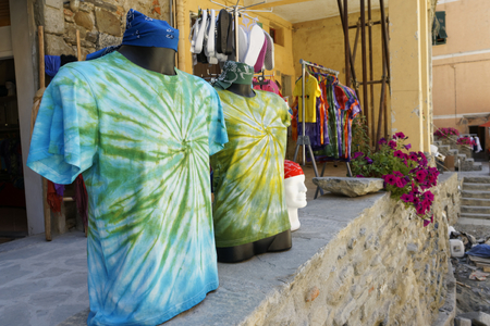 clothes at market in la spezia , italy photo
