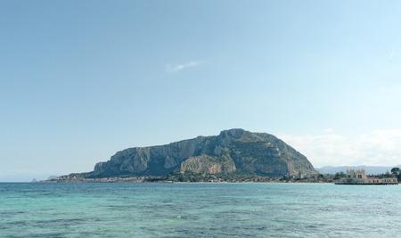 mondello: gulf of mondello in palermo , italy Stock Photo