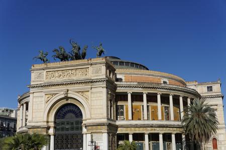 palermo   italy: Politeama opera house, Palermo Italy