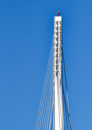 revel: Detail of Bridge of Thaon di Revel   Details of a cable stayed bridge  Bridge of Thaon di Revel  in La Spezia harbor - Liguria Italy