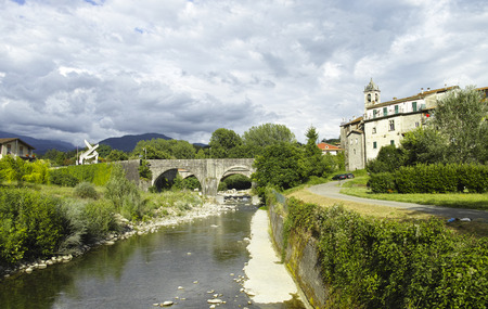 massa: villafranca a very beautiful medieval village in lunigiana Stock Photo