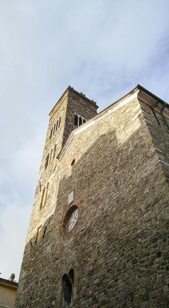 spezia: facade of a church in sarzana, la spezia italy