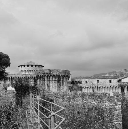 sarzana: photo of cittadella in sarzana a very beautiful town near la spezia Stock Photo
